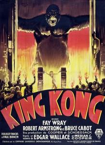 1933 French King Kong poster via Wiki Commons