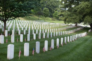 Arlington Cemetery on Memorial Day (photo: Department of Defense public domain)