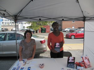 This is me, with Jackie, who helps run the College Park Community Library.