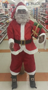 Christmas is in the air, even with stores selling a life-sized Santa.